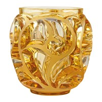 Lalique Tourbillons Ss Vase Amber