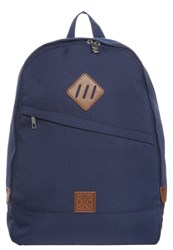 Your Turn Rucksack Dunkelblau Cognac Dark Blue