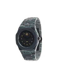 D1 Milano Camouflage Watch Polycarbonite Green
