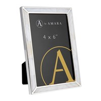 Amara Silver Photo Frame With Mother Of Pearl 4X6