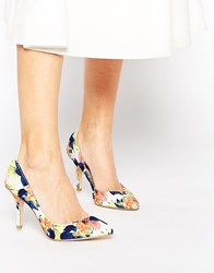 Ravel Floral Court Shoes Multi