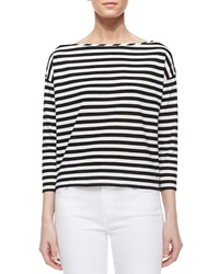Milly Riviera 3 4 Sleeve Striped Sailor Tee