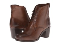 Frye Kendall Chukka Dark Brown Smooth Full Grain Women's Lace Up Boots