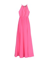 Space Style Concept Long Dresses Fuchsia