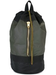 Palm Angels Gold Tone Zipper Large Backpack Black