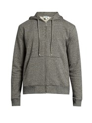 Kenzo Logo Print Hooded Sweatshirt Grey