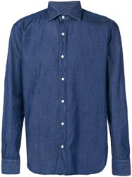 Massimo Piombo Mp Denim Button Down Shirt Blue