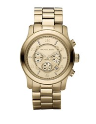 Michael Kors Mens Gold Plated Stainless Steel Chronograph Watch