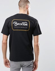 Brixton T Shirt With Back Logo Black