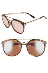 Women's Bp. 55Mm Oversize Mirrored Sunglasses Tort Rose Gold Tort Rose Gold
