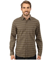 Royal Robbins Sierra Stripe Long Sleeve Shirt Light Olive Men's Long Sleeve Button Up