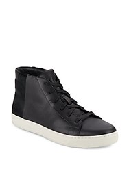 Vince Atlas Leather And Calf Hair Sneakers Oxford
