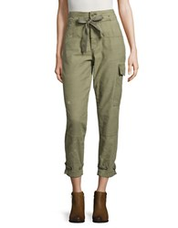 Free People Don't Get Lost Embellished Drawstring Cargo Pants Moss