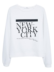 Mango Message Cotton Sweatshirt White