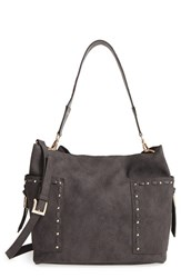 Steve Madden 'B Kailyn' Faux Leather Satchel Grey Charcoal