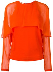 Antonio Berardi Sheer Panel Blouse Yellow And Orange