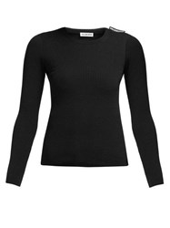 Balenciaga Ribbed Knit Sweater Black