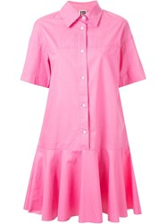 I'm Isola Marras Flared Shirt Dress Pink And Purple