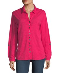 Neon Buddha Eastwood Heathered Button Down Top Deluxe