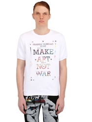 Frankie Morello Short Sleeve Printed Cotton Sweatshirt White