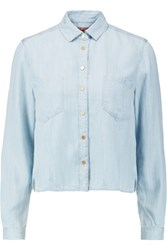 7 For All Mankind Chambray Shirt Light Denim