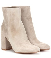 Gianvito Rossi Exclusive To Mytheresa.Com Rolling 85 Suede Ankle Boots Beige