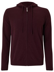 John Lewis Made In Italy Premium Cashmere Hoodie Wine Red