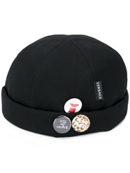 Versace Pin Patches Hat Black