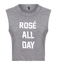 Private Party Rose All Day Crop Top Female Light Grey