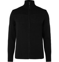 Fusalp Frosty Panelled Knitted Zip Through Cardigan Black
