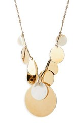 Elizabeth And James Women's The Rosa Terri Collar Necklace Mother Of Pearl Gold