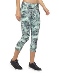 Mpg Jules Dare Reversible Capri Active Leggings Teal