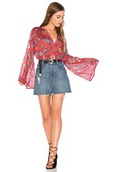 Spell And The Gypsy Collective Lovebird Blouse Red
