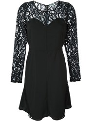 Sonia By Sonia Rykiel Laced Sleeves Flare Dress Black