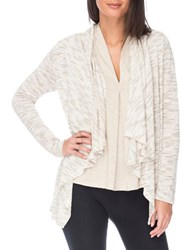 B Collection By Bobeau Textured Waterfall Open Front Cardigan Olive