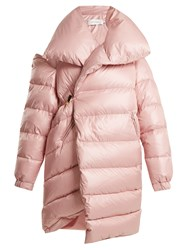 Marques Almeida Oversized Asymmetric Quilted Coat Light Pink