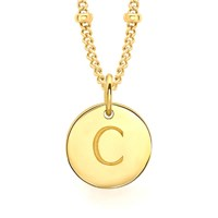 Missoma Women's Initial Charm Necklace C Gold