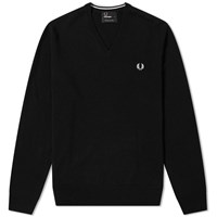 Fred Perry Classic V Neck Knit Black