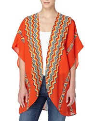 Catherine Malandrino Delphine Chevron Kimono Jacket Orange Multi