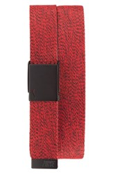 Men's Nike Heathered Web Belt University Red Black