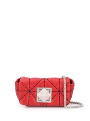 Sonia Rykiel Quilted Effect Shoulder Bag Red