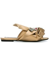 N 21 No21 Knot Detail Embellished Sandals Nude And Neutrals
