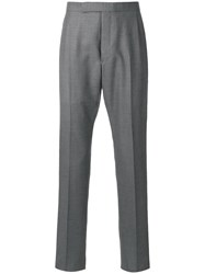 Thom Browne Backstrap Cropped Tailored Trousers Grey