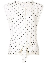 Moschino Vintage 2000'S Spotted Print Blouse Neutrals