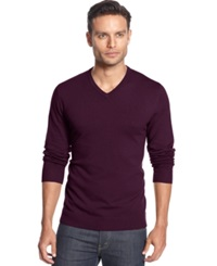 Alfani Black V Neck Sweater Port