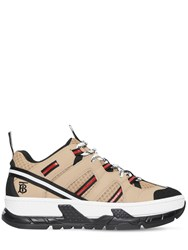 Burberry 40Mm Rs5 Leather And Mesh Sneakers Beige