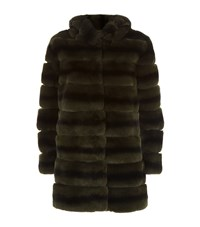 Lilly E Violetta Rabbit Fur Coat Green