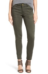 Wit And Wisdom Women's Skinny Cargo Pants Deep Forest