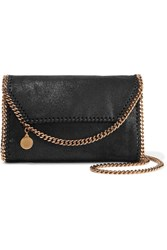 Stella Mccartney The Falabella Faux Brushed Suede Shoulder Bag Black