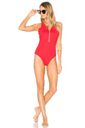 Alexander Wang Fish Line Detail One Piece Red